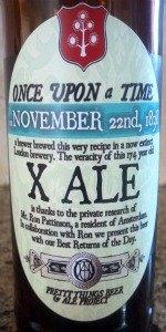 X Ale, 22nd November 1838