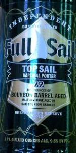 Top Sail Imperial Porter - Bourbon Barrel Aged (Brewmaster Reserve 2012)