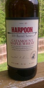 Harpoon 100 Barrel Series #41 - Catamount Maple Wheat