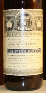 Berliner Weiss (Brewer's Share)