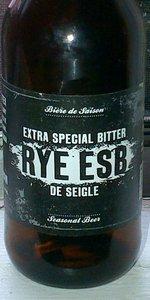 Rye ESB (Extra Special Bitter De Seigle)