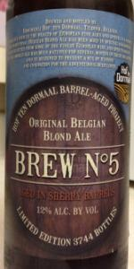 Barrel-Aged Project Brew No. 5 - Sherry