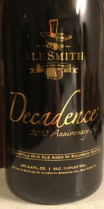 AleSmith Decadence 2010 English Style Old Ale Barrel Aged