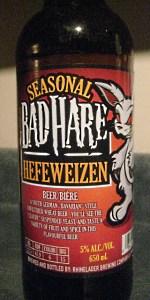 Bad Hare Hefeweizen