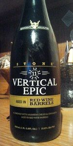 Stone 11.11.11 Vertical Epic Ale (Red Wine Barrel Aged)