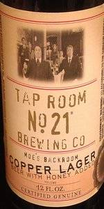 Tap Room No. 21 Copper Lager