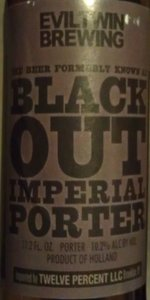 The Beer Formerly Known As Blackout