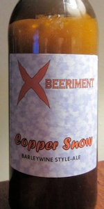 Copper Snow Barleywine Style-ale
