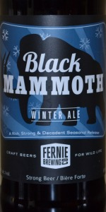Black Mammoth Winter Ale