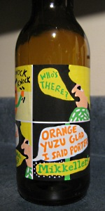 Orange Yuzu Glad I Said Porter