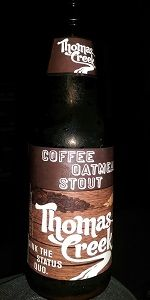 Thomas Creek Coffee Oatmeal Stout