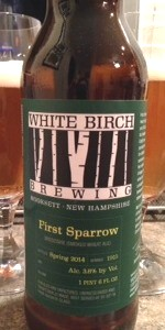 White Birch First Sparrow