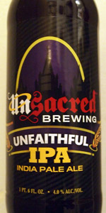 Unsacred Brewing Unfaithful IPA