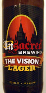 Unsacred Brewing The Vision Lager