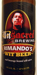 Unsacred Brewing Rimando's Wit Beer