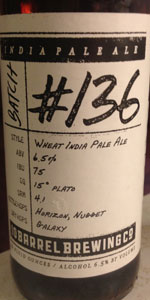 Hop Project #136 Wheat India Pale Ale