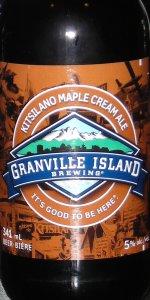 Kitsilano Maple Cream Ale