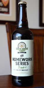 Homework Series # 1 - Hoppy Red Ale