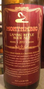 2013 Brewer's Reserve Montambic Lambic Style Sour Ale