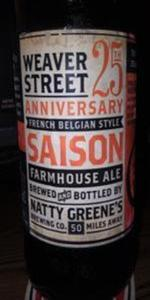 Weaver Street 25th Anniversary French Belgian Style Saison Farmhouse Ale