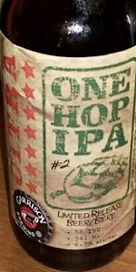 One Hop IPA #2: Citra
