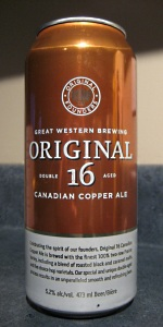 Great Western Original 16 Canadian Copper Ale