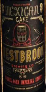 mexican cake beer wine barrel aged mexican cake westbrook brewing co 5852
