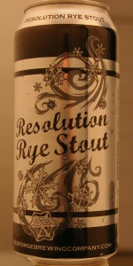 Resolution Rye Stout