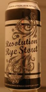 Resolution Rye Stout