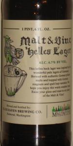 Malt & Vine 6 - Helles Lager