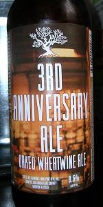 3rd Anniversary Ale: Oaked Wheatwine Ale