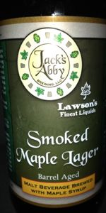 Jack's Abby / Lawson's Smoked Maple Lager - Bourbon Barrel Aged