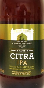 Marks And Spencer Single Hop Citra IPA | Oakham Ales / The ...