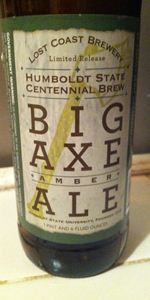 Humboldt State Centennial Brew Big Axe Amber Ale
