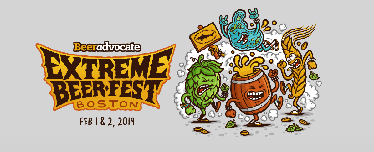 Extreme Beer Fest: February 1 & 2, 2019, Boston, Mass. Illustration by Michael Hacker: http://www.michaelhacker.at